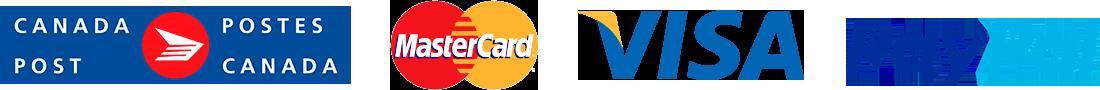 Postes Canada - MasterCard - VISA - Paypal